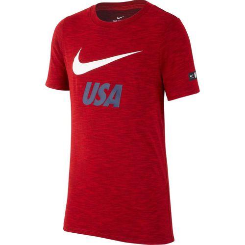 Boy's Nike Dry USA Soccer Short Sleeve T-Shirt (University Red)