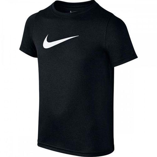 Boy's Nike Dri-Fit Swoosh Short Sleeve T-Shirt (Black)