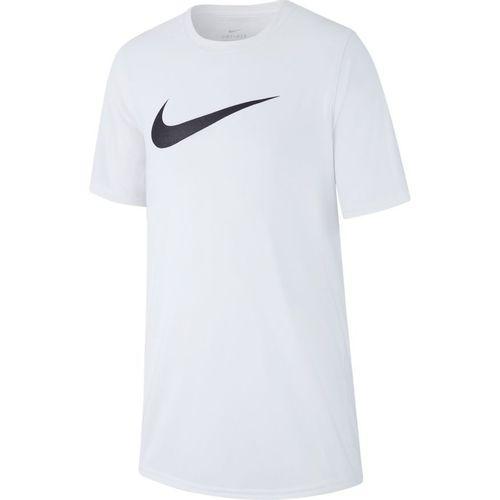 Boy's Nike Dri-Fit Swoosh Short Sleeve T-Shirt (White)