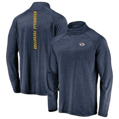 Men's Fanatics Nashville Predators Iconic 1/4 Zip Jacket (Navy)