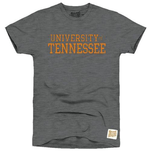 Men's Retro Brand Tennessee Volunteers Teddy Slub Short Sleeve T-Shirt (Charcoal/Orange)