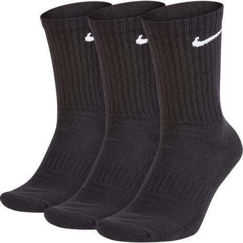 Nike 3 Pack Dri-fit Performance Cushion Crew Length Training Socks (Black)