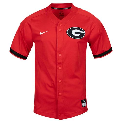 Men's Nike Georgia Bulldogs Vapor Elite Replica Baseball Jersey (Red)