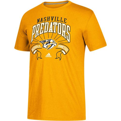 Men's adidas Nashville Predators Classic Mesh Short Sleeve Shirt (Gold)