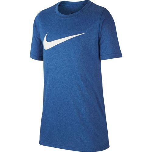 Boy's Nike Dri-Fit Swoosh Short Sleeve T-Shirt (Game Royal Heather)