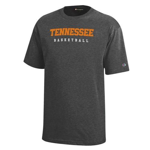 Youth Tennessee Volunteers Core Basketball Short Sleeve T-Shirt (Granite)