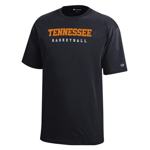 Youth Tennessee Volunteers Core Basketball Short Sleeve T-Shirt (Black)