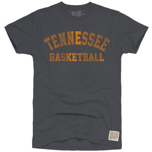 Men's Retro Brand Tennessee Volunteers Basketball Slub Short Sleeve Shirt (Charcoal)