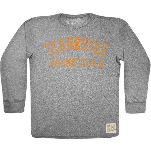 Men's Retro Brand Tennessee Volunteers Basketball Tri-Blend Long Sleeve Shirt (Heather Grey)