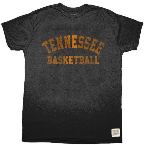 Men's Retro Brand Tennessee Volunteers Basketball Short Sleeve T-Shirt (Heather Black)