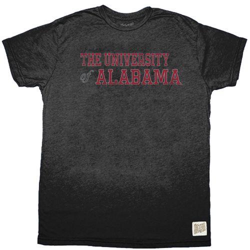 Men's Retro Brand Alabama Crimson Tide University Heather Short Sleeve T-Shirt (Heather Black)