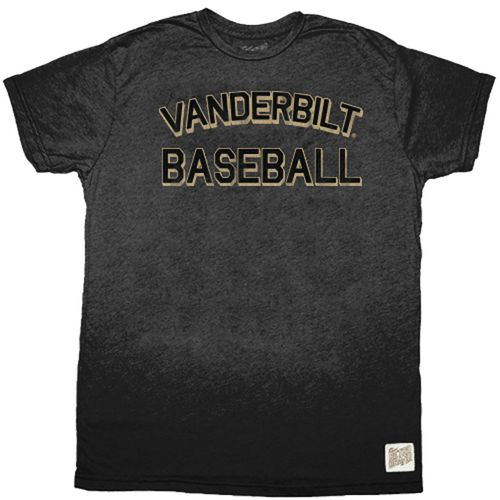 Men's Retro Brand Vanderbilt Commodores Baseball Short Sleeve T-Shirt (Heather Black)