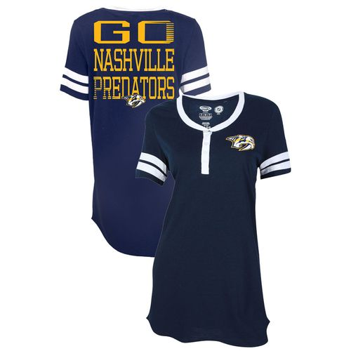Women's Nashville Predators Bolt Night Shirt (Navy)