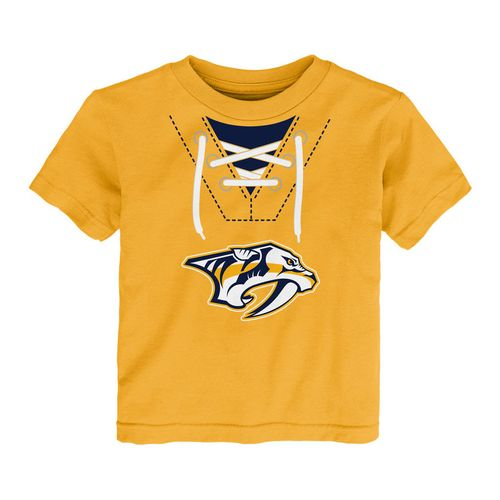 Toddler Nashville Predators Shersey Short Sleeve T-Shirt (Gold)