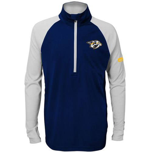 Youth Nashville Predators Perfect 1/2 Zip Jacket (Navy/Grey)