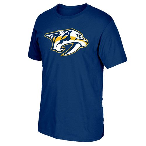 Men's adidas Nashville Predators Primary Logo Short Sleeve T-Shirt (Navy)