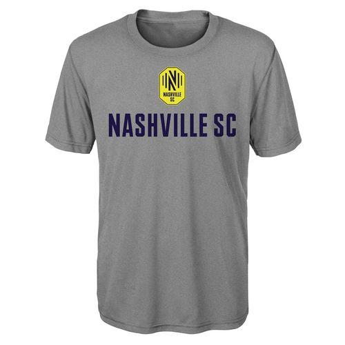 Youth Nashville Soccer Club Stacked Logo Short Sleeve T-Shirt (Heather)