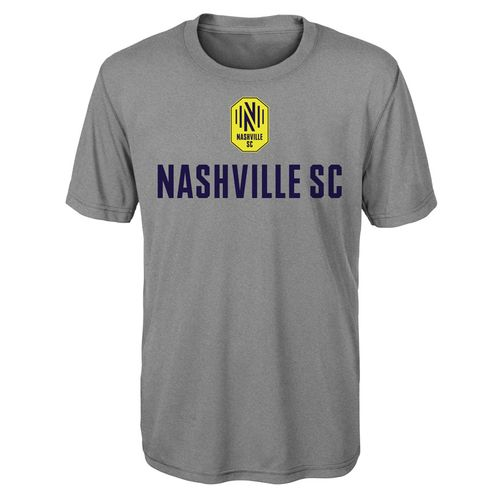 Youth Nashville Soccer Club Stacked Logo Perfect  Short Sleeve T-Shirt (Heather)