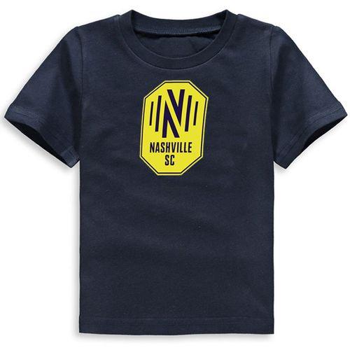 Youth Nashville Soccer Club Primary Logo Short Sleeve T-Shirt (Navy)