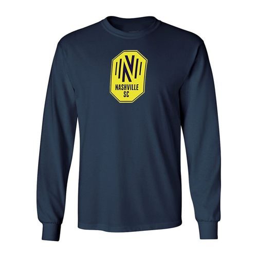 Youth Nashville Soccer Club Primary Logo Long Sleeve T-Shirt (Navy)
