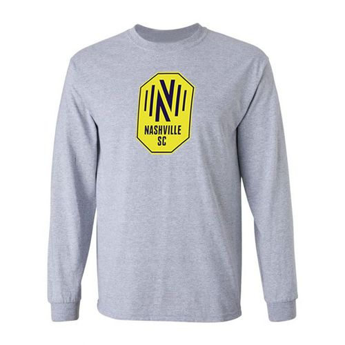 Youth Nashville Soccer Club Primary Logo Long Sleeve T-Shirt (Heather)