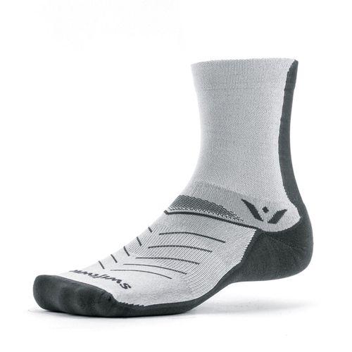 Swiftwick Vibe Five Medium Cushion Crew Sock (Grey)