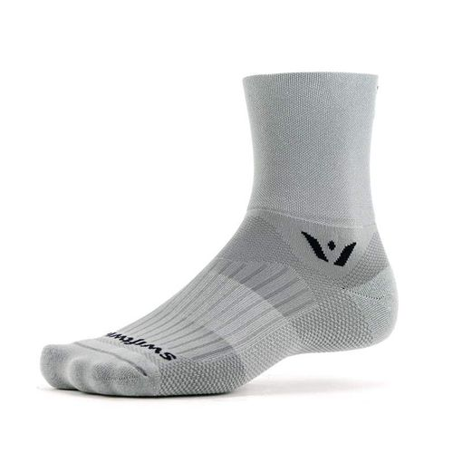 Swiftwick Aspire Four Minimum Cushion Quarter-Crew Sock (Pewter Grey)