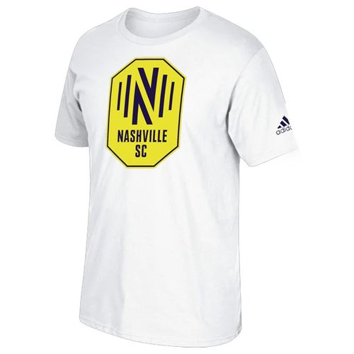 Men's adidas Nashville Soccer Club Squad Logo Short Sleeve T-Shirt (White)