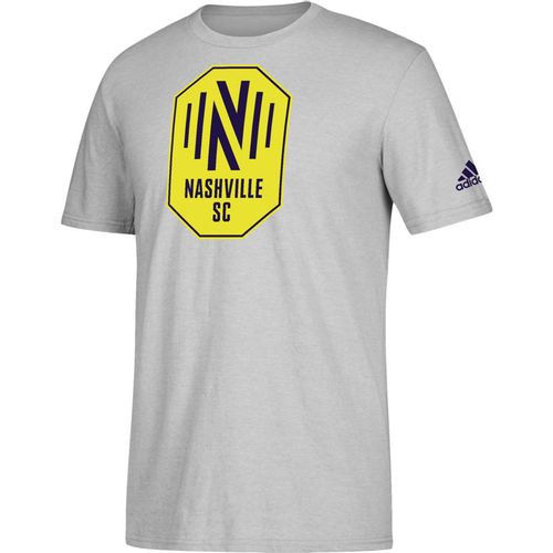 Men's adidas Nashville Soccer Club Squad Logo Short Sleeve T-Shirt (Heather)