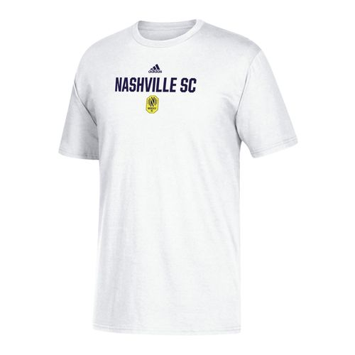 Youth adidas Nashville Soccer Club Locker Stacked Logo Short Sleeve T-Shirt (White)