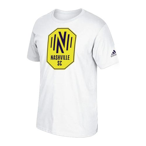 Youth adidas Nashville Soccer Club Squad Logo Short Sleeve T-Shirt (White)