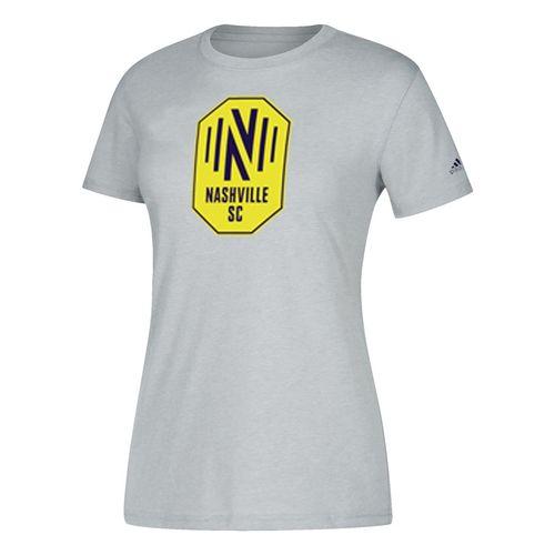 Women's adidas Nashville Soccer Club Squad Logo Short Sleeve T-Shirt (Heather)