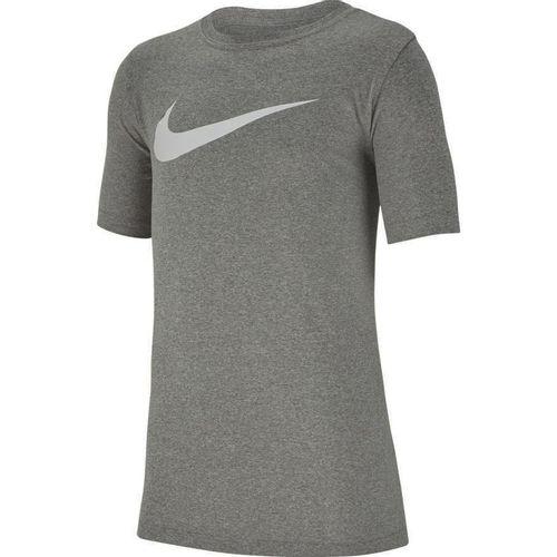 Boy's Nike Dri-Fit Swoosh Short Sleeve T-Shirt (Charcoal)