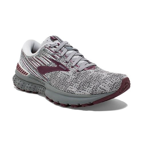 Women's Brooks Adrenaline GTS 19 (Grey/White/Fig)