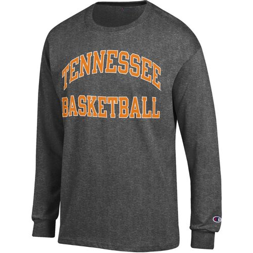 Men's Tennessee Volunteers Basketball Arch Long Sleeve T-Shirt (Granite)
