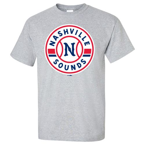 Men's Nashville Sounds Primary Logo Short Sleeve T-Shirt (Spirit Grey)