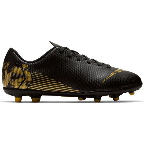 Grade School Nike Vapor 12 Club Soccer Cleat (Black/Metallic Gold)