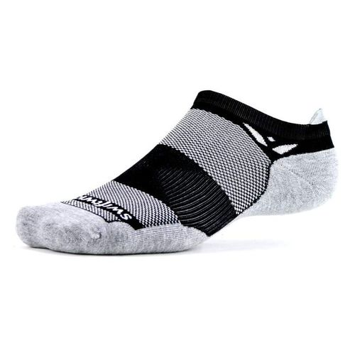 Swiftwick Maxus Zero Tab Sock (Black/Grey)