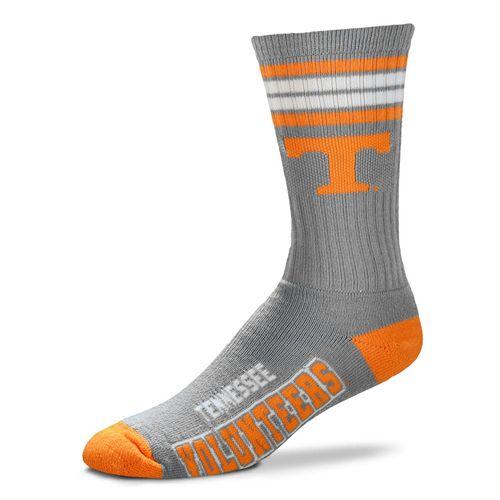 Tennessee Volunteers Reverse 4 Stripe Deuce Sock (Grey)