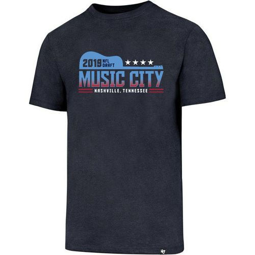 '47 Brand Men's 2019 NFL Draft Music City Short Sleeve T-Shirt (Navy)