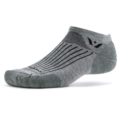 Swiftwick Pursuit Zero Tab Sock (Heather Grey)