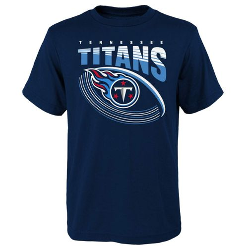 Youth Tennessee Titans Vortex Football Short Sleeve T-Shirt (Navy)