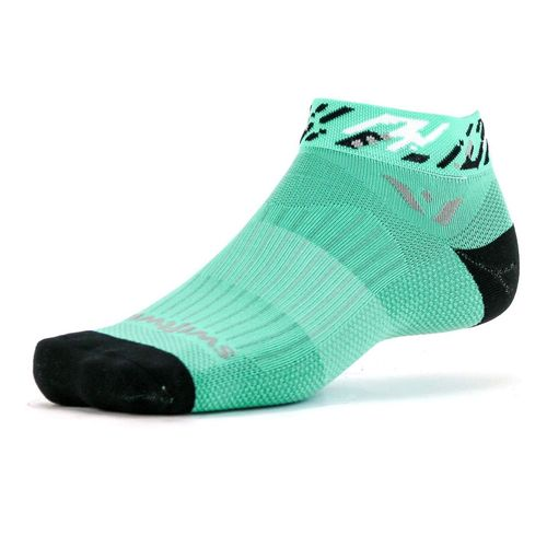 Swiftwick Vision One Flash Back Medium Cushion Ankle Sock (Mint/Black)