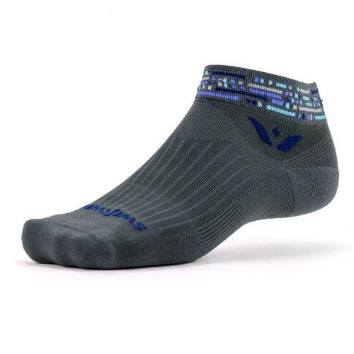 Swiftwick Vision One Morse Medium Cushion Ankle Sock (Grey/Blue)
