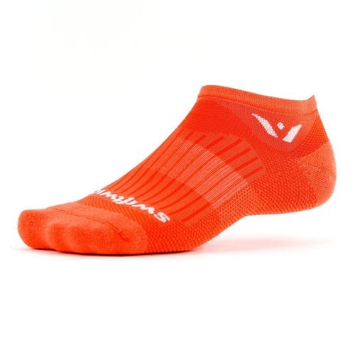 Swiftwick Aspire Zero Minimum Cushion No-Show Sock (Tangerine)