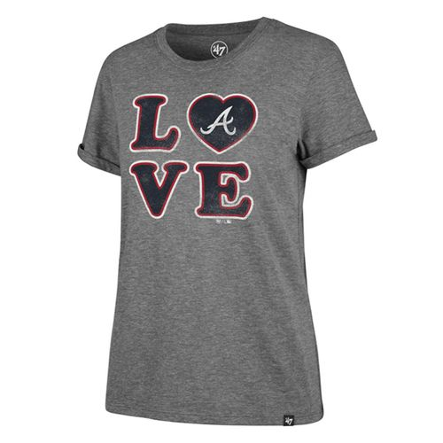 '47 Brand Women's  Atlanta Braves Love Tri-Blend Shirt (Vintage Grey)