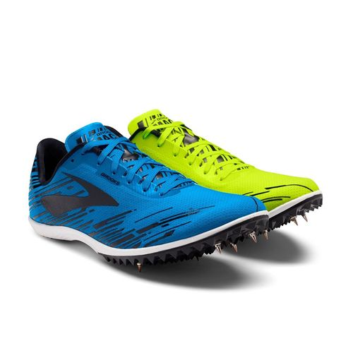 Men's Brooks Mach 18 Cross Country Spikes (Nightlife/Brooks Bright Blue)