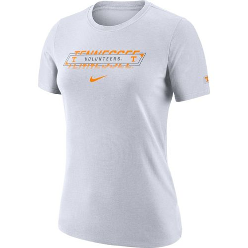Women's Nike Tennessee Volunteers Dri-FIT Crew Short Sleeve Shirt (White)