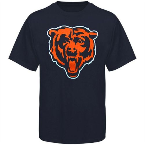 Men's Majestic Chicago Bears Primary Logo T-Shirt (Navy)