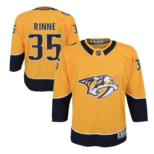 Youth Nashville Predators Pekka Rinne Premier Home Jersey (Gold)